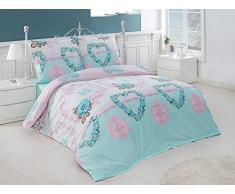 Bettwäsche Bettgarnitur Baumwolle Renforce mit Reißverschluss 5 Größen und vielen Farben Öko-Tex (135x200 cm, Design 26)
