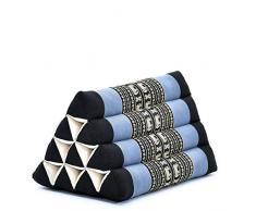 Leewadee Dreieckskissen Lesekissen Rückenstütze Fernsehkissen Ökologisches Naturprodukt, 50x33x33 cm, Kapok, blau