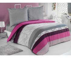 Bettwäsche 135x200 Baumwolle Bettgarnitur mit Reißverschluss 4 teilig L-Elit