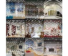 Vorhänge,Kristallglas Perlen Vorhang Curtain Romantisch Wohnzimmer Schlafzimmer Fenster Gardinen Tür Hochzeit Dekor Moginp (G)