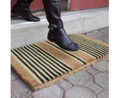 Entryways 122S Besonders dicke Fußmatte mit schwarzen Streifen aus Kokosfaser 40 cm x 60 cm