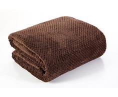 DecoKing 66058 Kuscheldecke 220x240 cm braun Decke Microfaser Mikrofaserdecke Fleecedecke Wohndecke Tagesdecke Fleece weich sanft kuschelig skandinavischer Stil schoko chocolate brown Henry