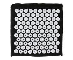 Gazechimp Akupressur Kissen, Sitzkissen, 35.5x34.5x2cm, Massagekissen, Rückenkissen, Entspannungskissen, Massage Stuhlkissen in verschiedenen Farben - Schwarz
