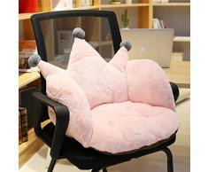 Winkey Solide warme Micro-Fleece-Decke Decke Teppich Teppich Sofa Decke Koralle Decke Bürostuhl Pad rutschfeste Kissen Plüsch Siamese dicken Student Kissen (Pink A)