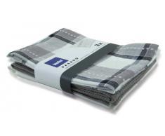 Kela 315961 Geschirrtuch Pasado, 3-teilig, 100% Baumwolle, 65 x 45 cm, grau