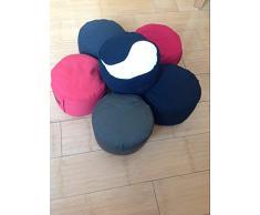 Zen Man Yogakissen Rund Sitzkissen Meditationskissen Kissen 20xH14cm Innenkissen gefüllt mit Buchweizen (Schwarz)