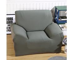 ele ELEOPTION Sofa Überwürfe Sofabezug Stretch elastische Sofahusse Sofa Abdeckung in Verschiedene Größe und Farbe Herstellergröße 95-140cm (Grau, 1 Sitzer für Sofalänge 90-130cm)