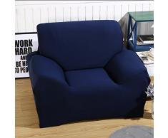 ele ELEOPTION Sofa Überwürfe Sofabezug Stretch elastische Sofahusse Sofa Abdeckung in Verschiedene Größe und Farbe Herstellergröße 95-140cm (Dunkelblau, 1 Sitzer für Sofalänge 90-130cm)