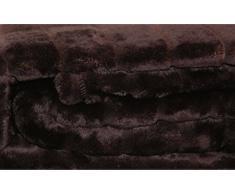Kuscheldecke Cashmere Touch Sofadecke ca. 150x200 cm Plüschdecke Streifen Nerz Fell Optik weiche Decke in Braun