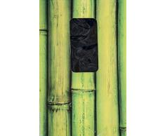 Türvorhang aus Bambus Buddha Strings (Schwarz)