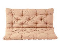 Ambientehome Sitzkissen und Rückenkissen Bank Hanko, apricot , ca 100 x 98 x 8 cm, Bankauflage, Polsterauflage
