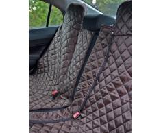 tierlando® Autoschondecke, Autoschutzdecke, Hundedecke, mit Reißverschluß teilbar, 160 x 140 cm, Braun - SMR-160-01