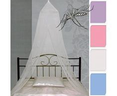 Di-Nesh (294) Moskitonetz weiß Bettvorhang Mückennetz Betthimmel 6,50 m x 2,30 m
