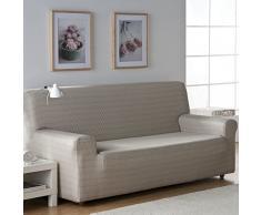Zebra Textil 32694 Sofahusse elastisch Vega, 3 Sitzer, naturfarben