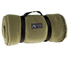 US Army Style Fleece Decke Picknickdecke Schlafdecke Unterlage in verschiedenen Farben OLIV