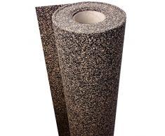 1 m² / Gummikork (Rubbercork) Akustik Trittschalldämmung und Gehschalldämmung für Laminat, Parkett, Kork und Vinylböden - Auch für Auslegware z.B. Teppichböden geeignet - Stärke: 5 mm - Trittschalldämmung ca. 22 dB(A)