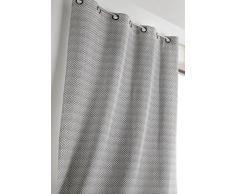 Linder 1570/19/47030/377FR Vorhang geometrisches Muster Schwarz Polyester/Leinen 140Â x 240Â cm