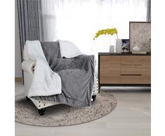 Kuscheldecke zweiseitige Decke aus Flanell 150 x120cm,Couchdecke extra warm& Dicke Wohndecke,super Flauschige fliesdecke/Wohnzimmerdecke Mikrofaser-Fleecedecke als Überwurf