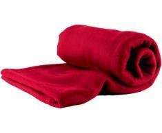 Betz Luxus MAXI Fleecedecke Kuscheldecke Farbe Dunkel Rot Größe 140x190 cm Qualität: 220 g/m²