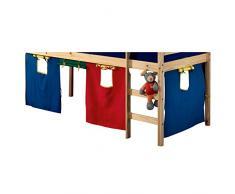 IDIMEX Spielvorhang Erik Bettvorhang Vorhang zu Hochbett Rutschbett Kinderbett 4-farbig