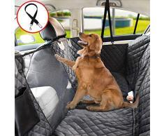 Vailge Autoschondecke für Hunde Rücksitz rutschfeste Hundedecke Auto Rückbank wasserdichte mit Sichtfenster, Kofferraumschutz Hhund mit Sicherheitsgurt für Car Van SUV (Standard(142cm W x152cm L))