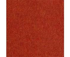 URBANARA Alpakadecke Arica - 100% reine Baby-Alpakawolle, einfarbig mit Fransen – 130 x 170 cm, Überwurf, Plaid, Kuscheldecke, Sofadecke, Wolldecke, Kaschmirdecke (Rostorange)