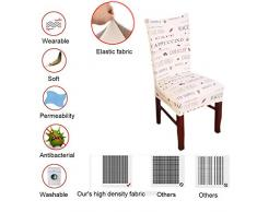 MINGZJ Stretch Stuhlhussen Stretch-Stuhlbezug Elastische Husse Dekoration Stuhl Husse aus Elastik-Stoff für universelle Passform Packung mit 4 Stück