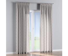 Dekoria Vorhang mit Kräuselband Dekoschal Blickdicht Wohnzimmer Schlafzimmer Kinderzimmer 1 Stck. 130 × 260 cm grau-beige Maßanfertigung möglich