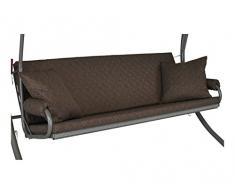 Angerer 42022/211 Elegance Joy Schaukelauflage, 3-Sitzer Design, taupe
