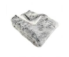 Enjoy Home P010GRF130160 Decke aus Webpelz Bär, Polyester, dunkelgrau, 160 x 130 cm