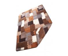 Wolldecke, Schurwolle Decke, Tagesdecke, Wollplaid Patchwork, 100% Merinowolle Größe: 140x200