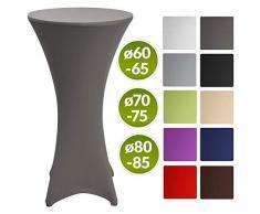 Beautissu Stretch Stehtisch Husse Stella für Bistrotisch Ø 60-65 cm Elegante Stretch-Husse Anthrazit als Tisch-Überzug in div. Farben & Größen