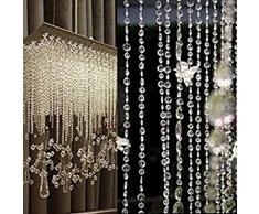 ICTRONIX 30M Perlengirlande Kristall Diamant Girlande Acryl Hochzeit Party Tischdeko Mehrfarbig