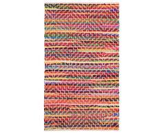 Namaste UK Fair Trade Mandira Flickenteppich, recycelte Baumwolle, 75 x 135 cm