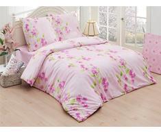 Baumwolle Bettwäsche Bettgarnitur Renforce mit Reißverschluss 5 Größen und vielen Farben Öko-Tex (200x200 cm, Design 5)
