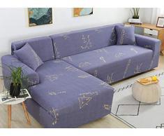 QRTQ Spandex Sofabezug Stretch Gedruckt Sofahusse Couchbezug Sesselbezug Elastischer Antirutsch Stretchhusse Weich Stoff Couch Sessel Sofaüberwurf(lila,4 Sitzer: 235-310cm)