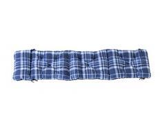 Ambientehome Deckchair Auflage für Liege, kariert blau, ca 195 x 49 x 8 cm, Polsterauflage, Kissen