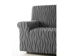 Zebra Textil 42696 sofahusse elastisch Andromeda, 2 sitzer, grau