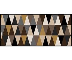 Flurläufer - Küchenläufer - geometric gold - Universal Läufer - Küchenmatte - Läufer - Dekoläufer für Küche , Flur , Wohnzimmer und Bar - Der Hingucker in Ihrer Wohnung - Ihre Gäste werden staunen - waschbare Läufer