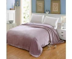 Simmia Home Kuscheldecke Wohndecke Nerzdecke Webpelzdecke Tagesdecke Lammsamtdecke Verdickung Samt,Pink lila,200 x 230 cm