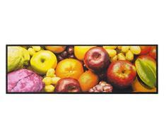Küchenläufer / Küchenmatte / Dekoläufer für Küche und Bar / Teppich / Läüfer / Läufer / waschbare Küchenläufer / Küchendeko Modell ,,COOK & WASH Fruits -Obst - Größe ca. 50 x 150 cm / Maschinen waschbar auf 30 grad