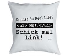 bedrucktes Fun Sofa Kissen: Real Life Geschenk Dekokissen Couchkissen Sofakissen Geburtstag Weihnachten Ostern