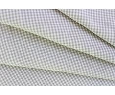 LINUM 4er Set Stoffservietten PETITE G15 grau und weiß kariert 45cm x 45cm Minikaro, Serviette, Tischserviette, Tischtextilien, 100% Baumwolle