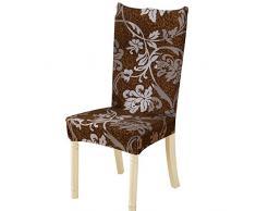 Nibesser 4er Set Stuhlhussen Stretch Stuhlbezug Elastische Moderne Husse Dekoration Stuhlüberzug für Universelle Passform (4#)