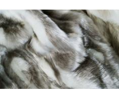 !!! Absolut Top !!! Kissen und Decke aus sehr hochwertigem Webpelz in Farbe Silber. Kissen und Decke sind extrem hochwertig verarbeitet und sind waschbar bei 40Grad. (130x170cm, Silber)