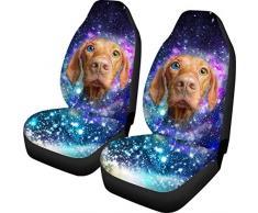 Not applicable Starry Stars Dog Design 2-teilige Autositzbezüge 2-teilige Autositzschutzfolien Nur für Universal-Stretchbezüge