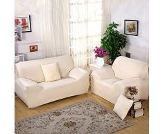 ele ELEOPTION Sofa Überwürfe Sofabezug Stretch Elastische Sofahusse Sofa Abdeckung in Verschiedene Größe und Farbe (Hell Apricot, 4 Sitzer für Sofalänge 220-300cm)