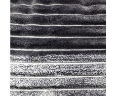 Close Up Henry´s Wohndecke - Hochwertige XXL Decke - flauschig weiches Fleece, Lammflor Plüsch (Dicke Ausführung), Sherpa Optik - warm - 150 x 200 cm - Grau/Anthrazit