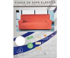Zebra Textil Elastische Sofa-Husse Beta Größe 3 Sitzer (Von 170 bis 210 cm), Farbe Orange (Mehrere Farben verfügbar)