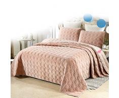 LMXDCS Tagesdecken Bettdecken 3 Stück Ultraschall Geprägte Einfarbige Quiltdecke Tagesdecke Übergroße Bettdecke Set Elegante Art Quilt Set,230 * 240cm